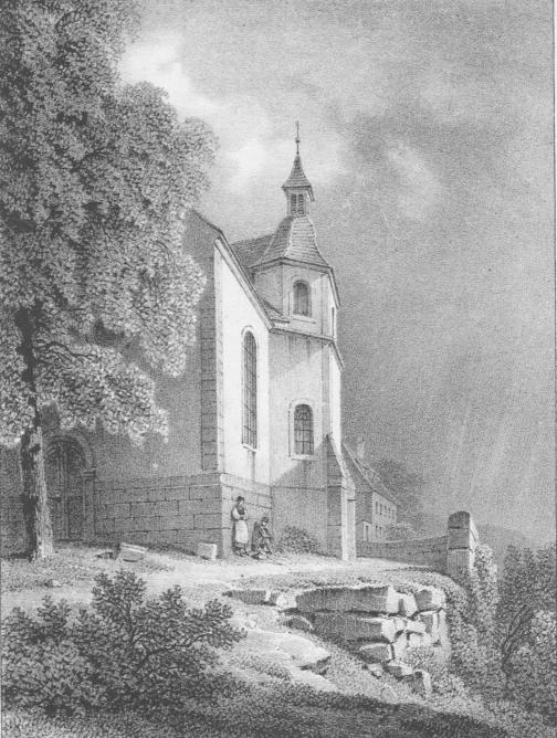 Chapelle gravure rothmuller 19e siecle